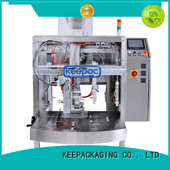 Keepac automatic mini doypack machine customized for pre-openned zipper pouch