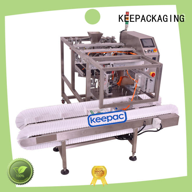 Keepac multi bag format small food packaging machine company for pre-openned zipper pouch