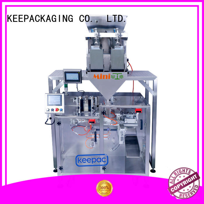 Keepac professional automatic powder packing machine staight flow design for standup pouch