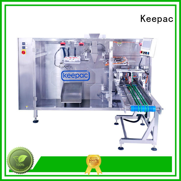 Keepac straight flow design small pouch packing machine wholesale for 3 sides sealed pouch
