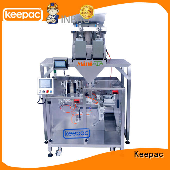 Keepac duplex powder pouch packing machine design for standup pouch