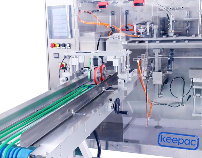 professional horizontal packing machine staight flow design supplier for food