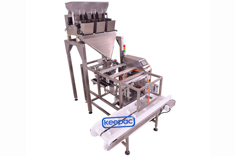 Keepac different sized snack food packaging machine manufacturing for pre-openned zipper pouch