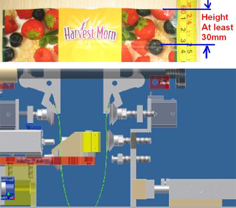 high quality powder packing machine staight flow design manufacturer for zipper bag-17