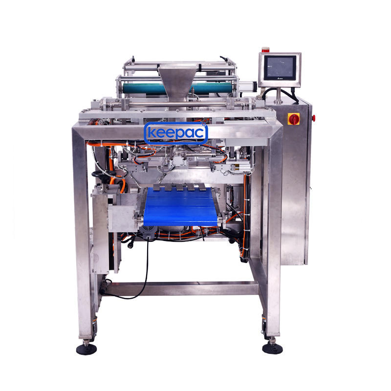 Keepac straight flow design form and fill packaging machines company for zipper bag