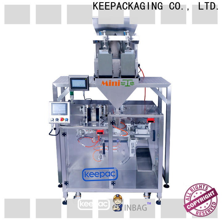 Keepac staight flow design horizontal form fill seal machine manufacturers for standup pouch