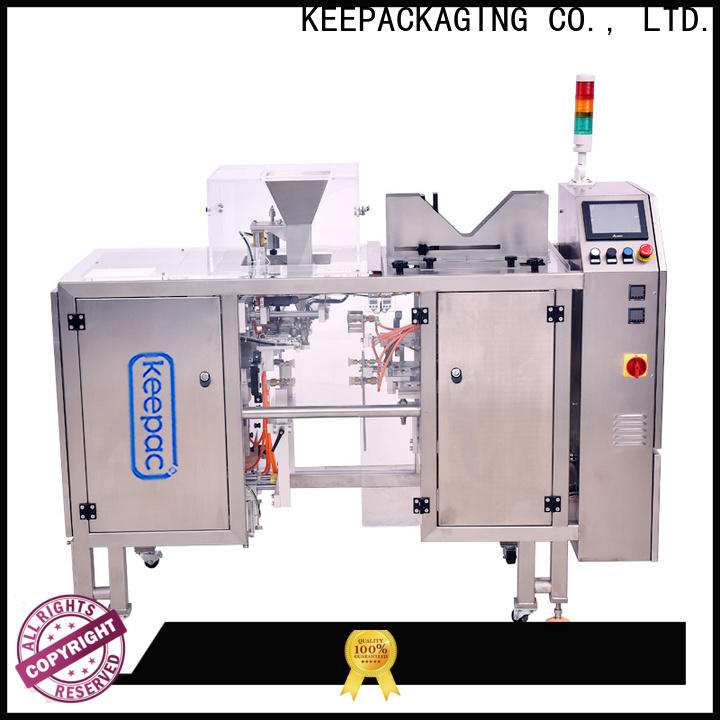 Keepac different sized small food packaging machine manufacturers for pre-openned zipper pouch