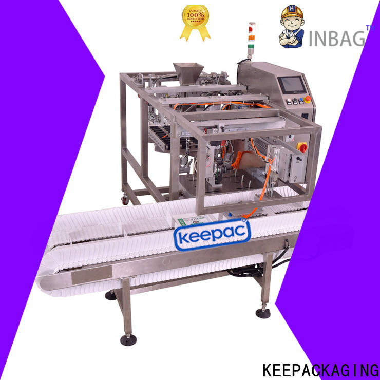 Keepac quick release small food packaging machine Supply for pre-openned zipper pouch