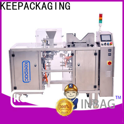 New automatic grain packing machine stainless steel 304 company for pre-openned zipper pouch