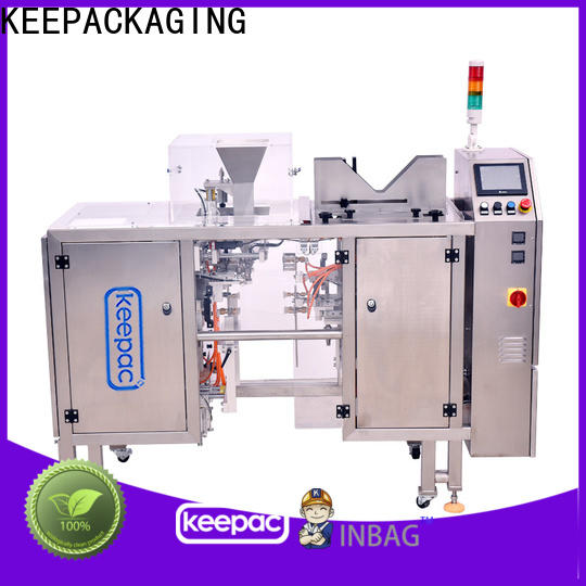 Keepac Top snack food packaging machine factory for pre-openned zipper pouch