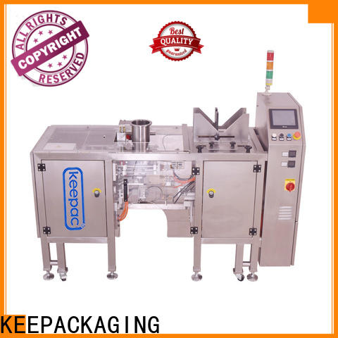 Keepac quick release snack food packaging machine company for pre-openned zipper pouch