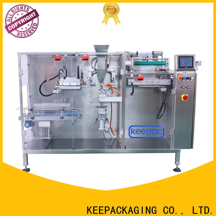 Keepac staight flow design horizontal packaging machine factory for beverage