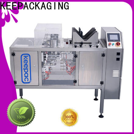 Keepac quick release food packaging machine company for pre-openned zipper pouch