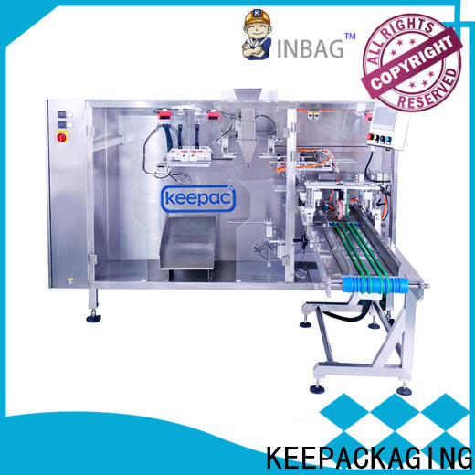 New milk pouch packing machine straight flow design factory for zipper bag