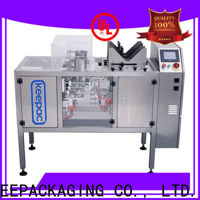 Keepac different sized food packaging machine manufacturers for pre-openned zipper pouch