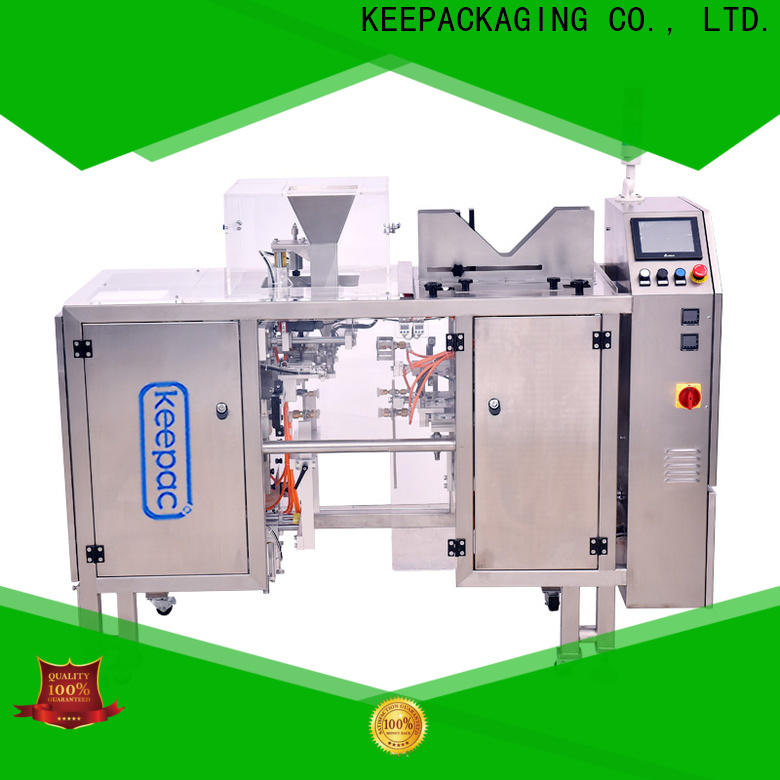 Keepac quick release snack food packaging machine manufacturers for pre-openned zipper pouch