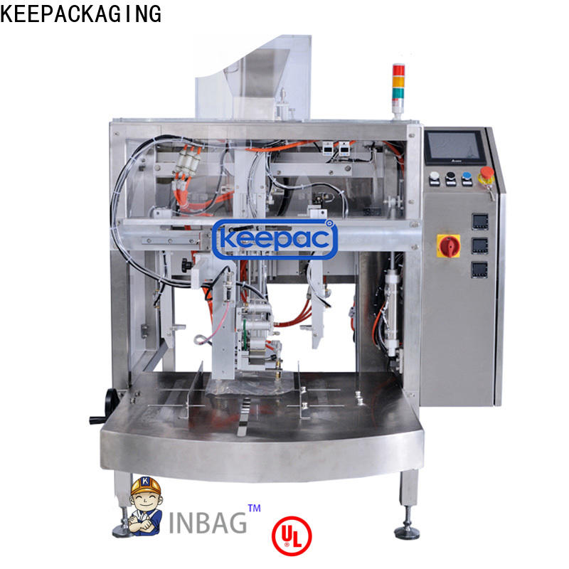 Keepac quick release chips packaging machine manufacturers for pre-openned zipper pouch