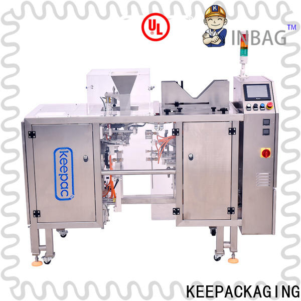 Keepac different sized food packaging machine company for pre-openned zipper pouch