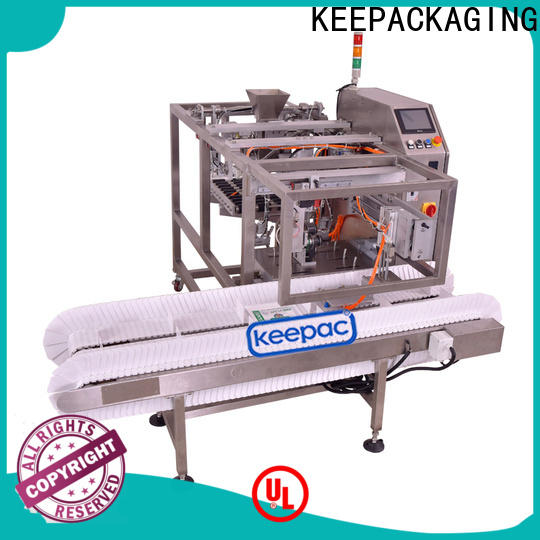 Keepac stainless steel 304 snack food packaging machine Supply for pre-openned zipper pouch