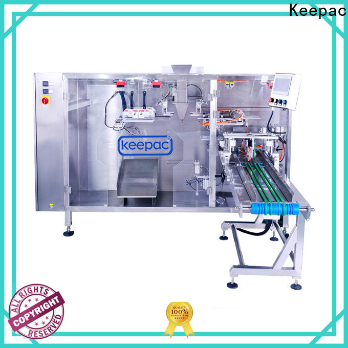 Keepac quick release automatic pouch packing machine Suppliers for 3 sides sealed pouch