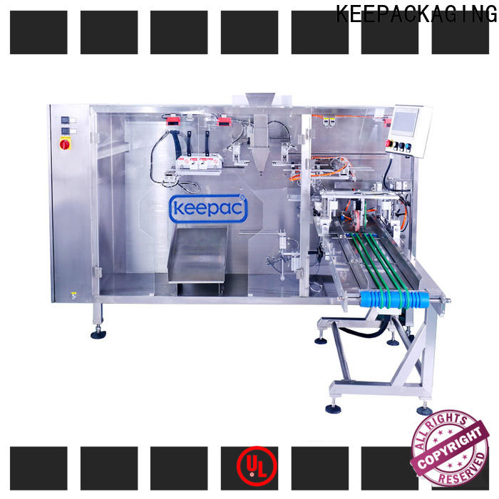 Keepac quick release automatic pouch packing machine company for 3 sides sealed pouch