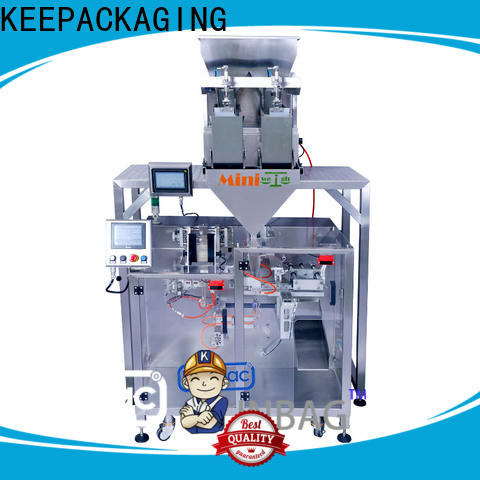 Keepac duplex pick fill seal machine manufacturers for zipper bag