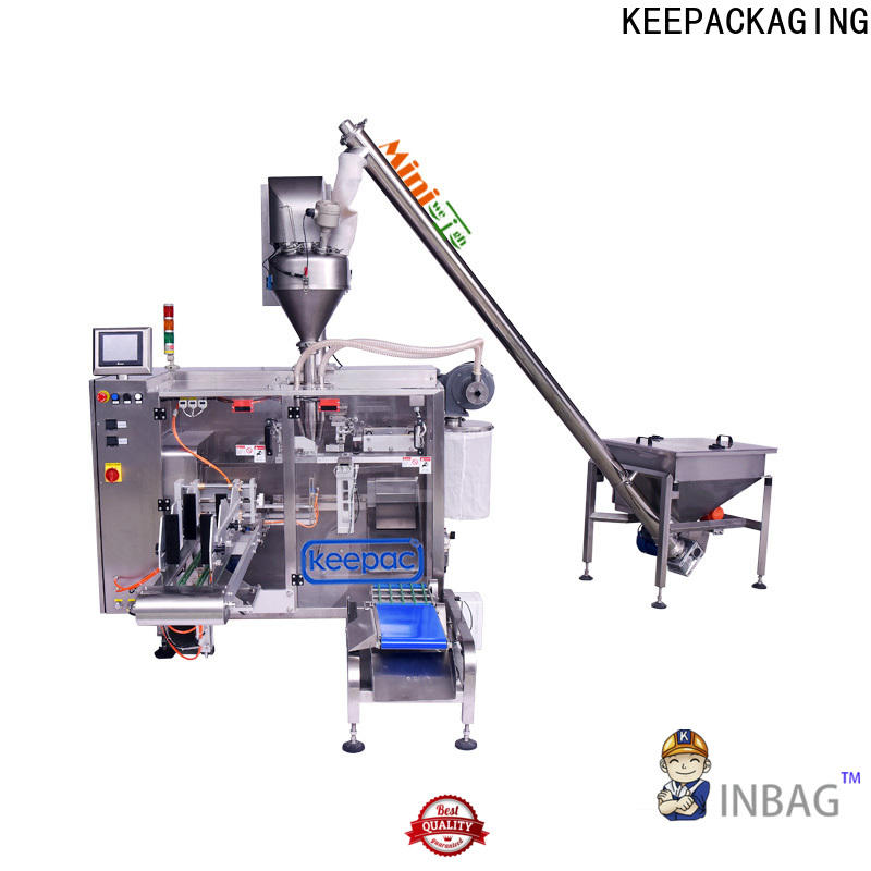 Keepac staight flow design seal packing machine Supply for zipper bag