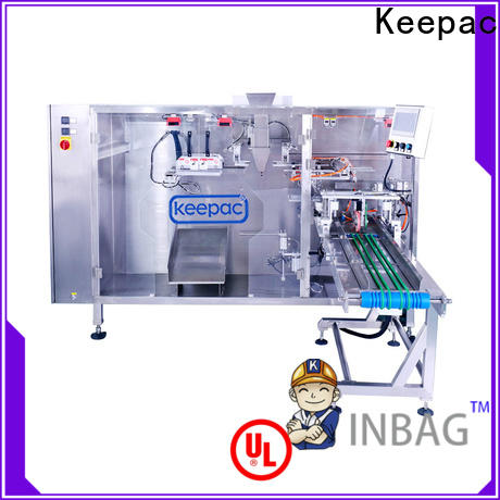 Keepac easy to clean plastic pouch packing machine manufacturers for standup bag