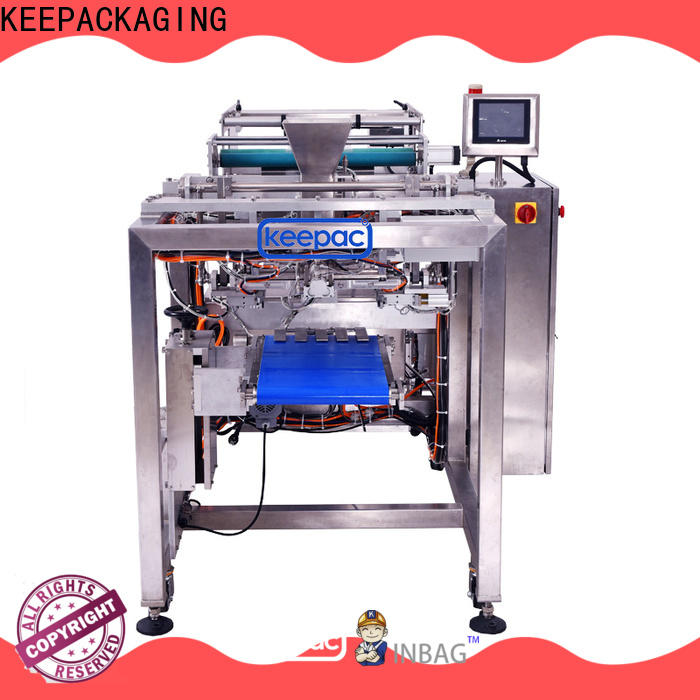 Keepac straight flow design automatic bag filling and sealing machine for business for food