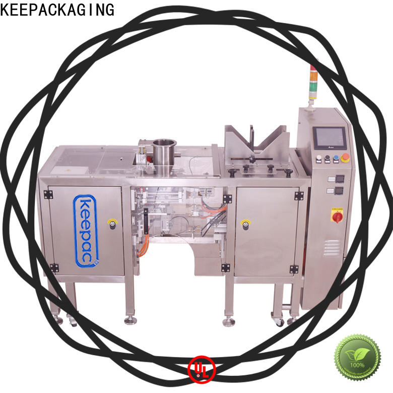 Keepac Top grain packing machine for business for pre-openned zipper pouch