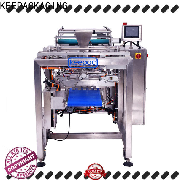 Keepac straight flow design salad packing machine factory for standup pouch