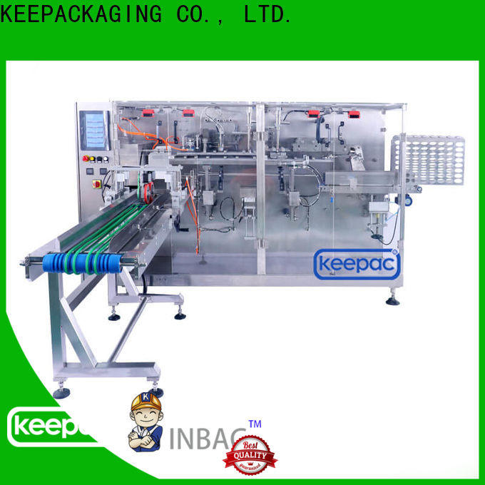 Custom horizontal packaging machine spout company for commodity