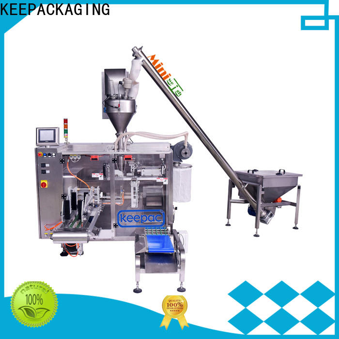 Keepac staight flow design horizontal form fill seal machine factory for standup pouch