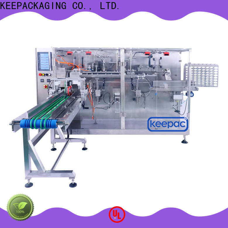 Top horizontal packing machine pouch factory for commodity