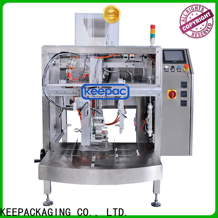 Keepac stainless steel 304 chips packaging machine manufacturers for pre-openned zipper pouch