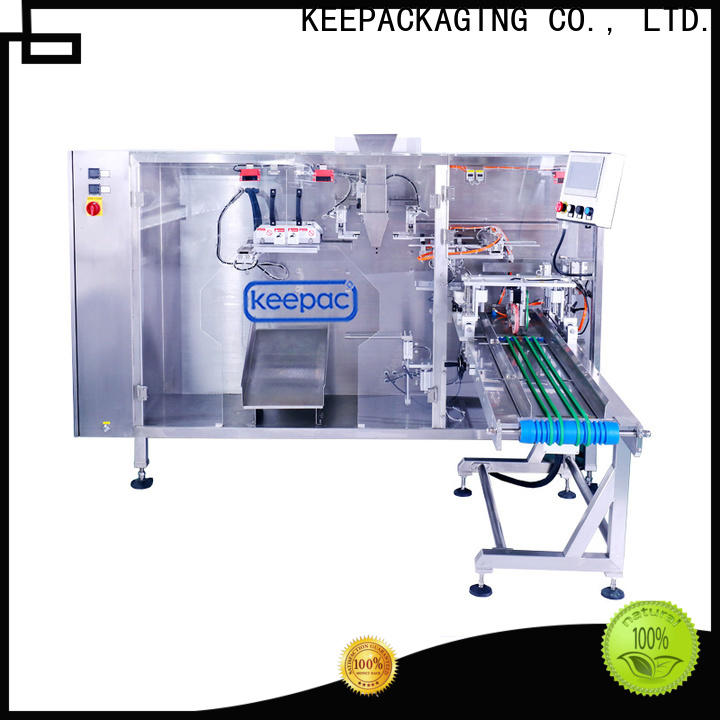Keepac 8 inches water pouch packing machine manufacturers for standup bag