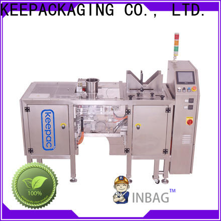 Latest automatic grain packing machine stainless steel 304 company for pre-openned zipper pouch