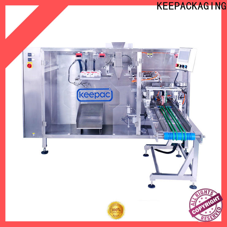 Top liquid pouch packing machine straight flow design Suppliers for 3 sides sealed pouch