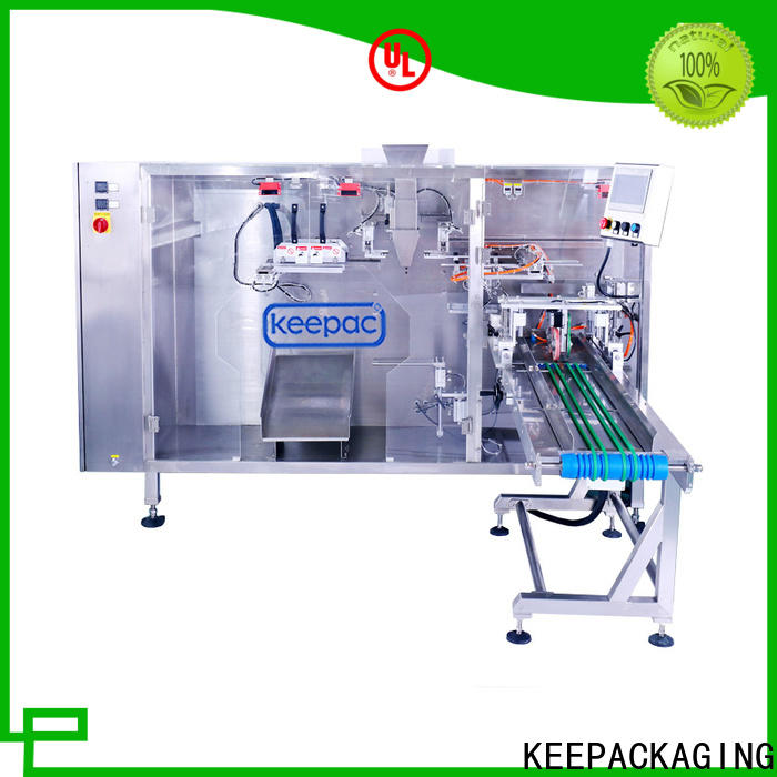 Top pouch packing machine straight flow design Supply for 3 sides sealed pouch