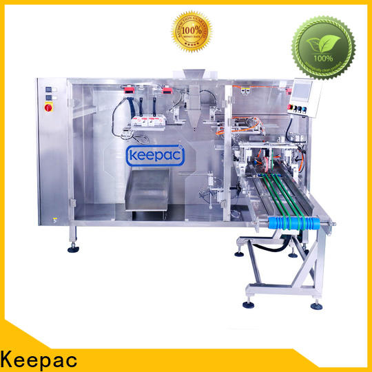 Keepac straight flow design small pouch packing machine Suppliers for 3 sides sealed pouch