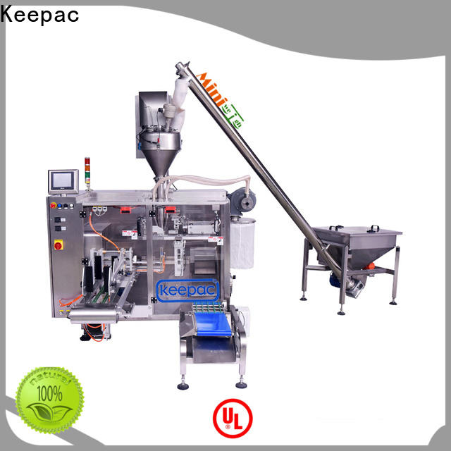 Wholesale powder pouch packing machine staight flow design company for standup pouch