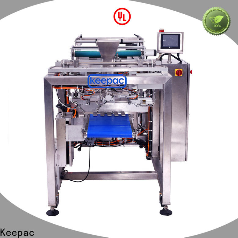 Keepac PE tubular filling and sealing machine factory for standup pouch