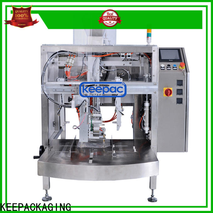 Keepac stainless steel 304 snack food packaging machine factory for beverage