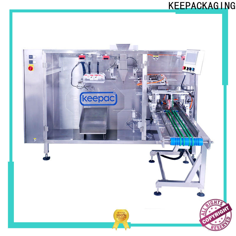 Keepac straight flow design automatic pouch packing machine Supply for standup bag