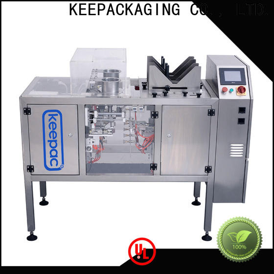 Keepac quick release automatic grain packing machine for business for pre-openned zipper pouch