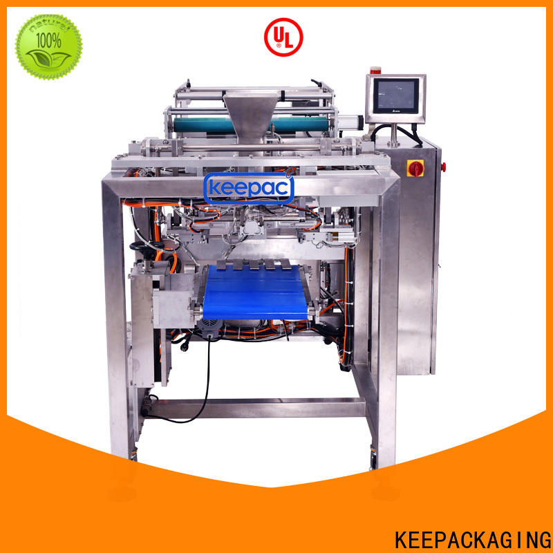 Custom sealing jaws packaging machines PE tubular for business for standup pouch
