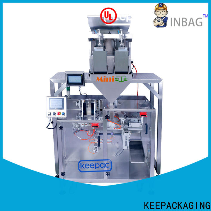 Top form fill seal machine staight flow design Supply for food