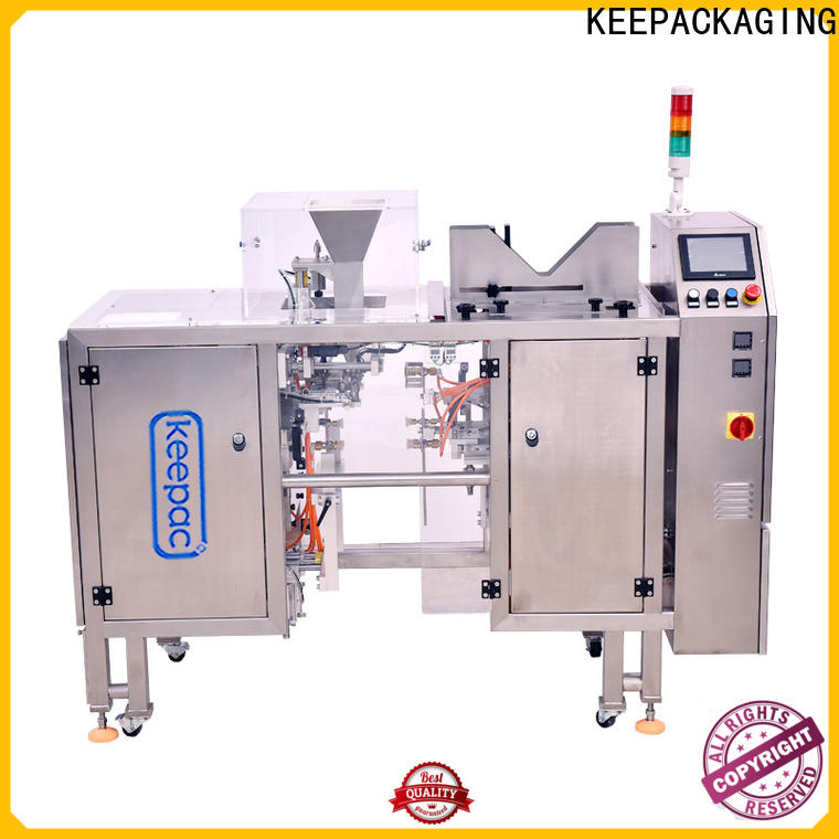 Keepac different sized small food packaging machine Supply for pre-openned zipper pouch