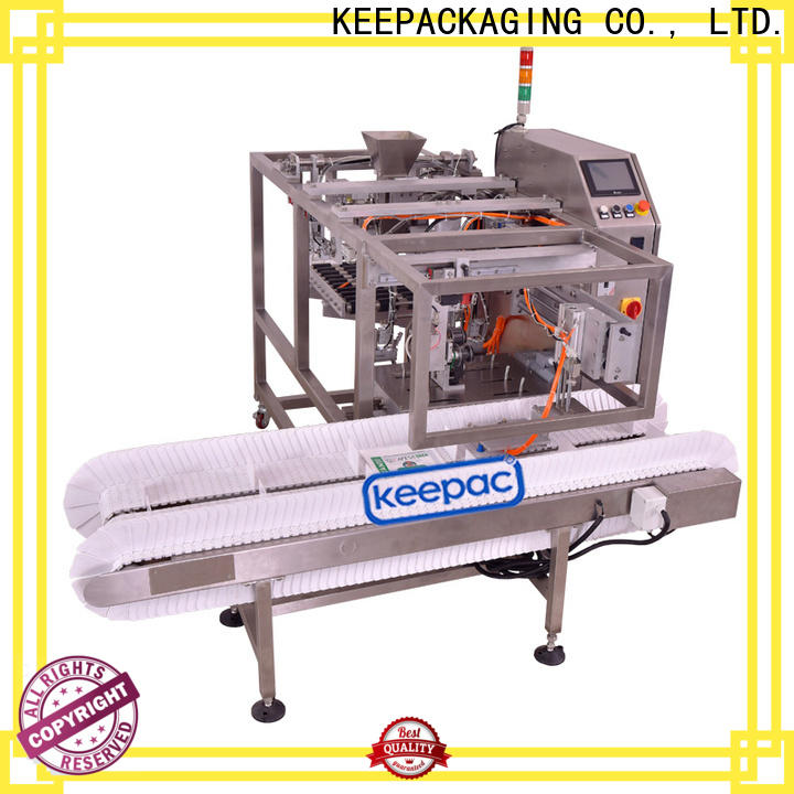 Keepac stainless steel 304 grain packing machine company for pre-openned zipper pouch