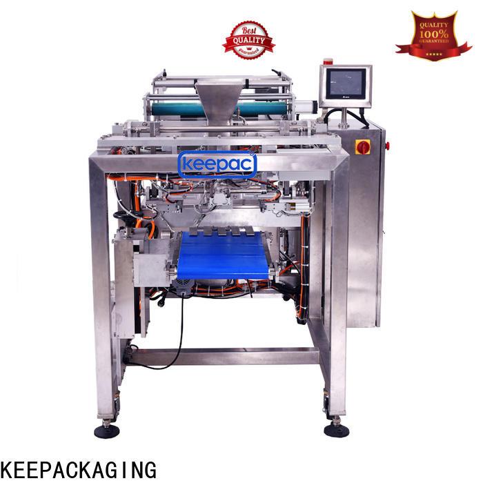 Keepac PE tubular automatic bag filling and sealing machine company for zipper bag